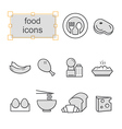 Thin line icons set Food vector image