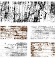 Wooden grunge set vector image vector image