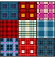 Plaid tartan british buffalo seamless vector image