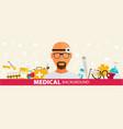 medical flat sticker background concept design vector image