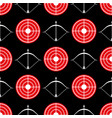 archery seamless pattern - seamless texture red vector image