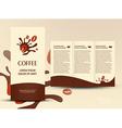 brochure folder card coffee beans element design vector image vector image