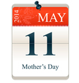 Calendar of mothers day 2014 vector image