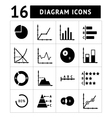 Set icons of diagrams charts and business infogra vector image