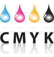 cmyk ink drop color paint print vector image