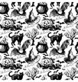 Sketch Halloween seamless pattern vector image