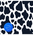 Seamless pattern with cow spots vector image