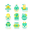 alternative green energy sources logo set vector image