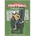 American Football Championship Poster vector image