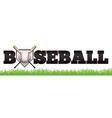 Baseball Word Art vector image