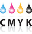 cmyk ink drop color paint print vector image