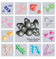 Collection Molecules vector image