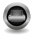 Metallic printer button vector image