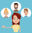mother female family icons vector image