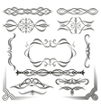 set of design vintage elements vector image