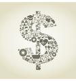 Science dollar vector image vector image