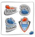 logo boxing gloves vector image