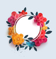flower composition with the text in a circle vector image