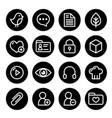 website menu navigation round line icons - social vector image vector image