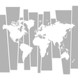 World map graphic concept background vector image