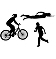 triathlon vector image