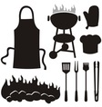 Barbecue silhouettes vector