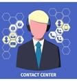 Contact center employee vector image