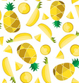 Colorful seamless pattern of pineapple slice vector image