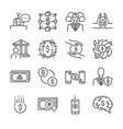 fintech line icon set vector image