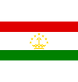 Flag of Tajikistan vector image