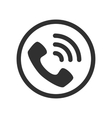 icon phone call vector image