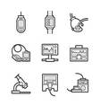 Medical Device Icon Set vector image