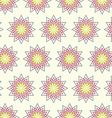 Modern Blossom in Abstract Style Pattern on Pastel vector image