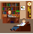 Psychologist concept flat isolated vector image
