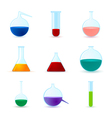 set of chemical icons vector image