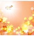 Natural of beautiful autumn vector image
