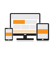 Responsive design for web vector image