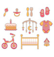 baby girl icon vector image