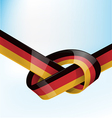 germanic ribbon flag on sky background vector image vector image