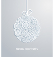 Christmas card with hanging toy vector image vector image