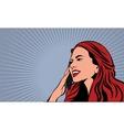 Pop Art Comics Woman vector image