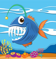 Fish swimming under the sea vector image