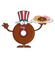 Uncle Sam Donut Cartoon vector image