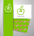 apple logo identity vector image