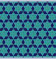 blue gold jewish star pattern vector image