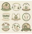 Farming harvesting and agriculture labels vector image
