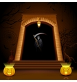 Grim standing on Hell Gate vector image