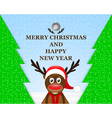 Reindeer in the Christmas forest vector image