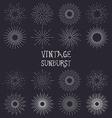 Set of vintage handdrawn sunbursts vector image