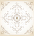 Vintage ornament greeting card vector image